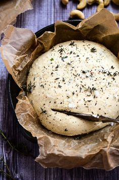 This creamy, spreadable homemade herbed cheese is incredible and completely cholesterol and dairy-free!