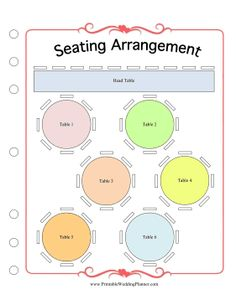 Keep Track Of All Your Guests And Where They Sit At Reception With The Wedding Seating Plan