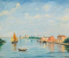 Sir Winston Churchill (1874-1965), Near Venice