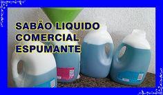 SABÃO LIQUIDO COMERCIAL PARA LAVAR ROUPAS ( FEITO EM CASA)