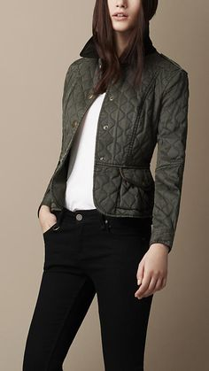 Quilted Peplum Jacket | Burberry