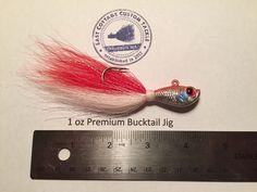 3 pack Ultra Minnow Bucktail Jigs 5oz 7//0 Mustad Saltwater Hook