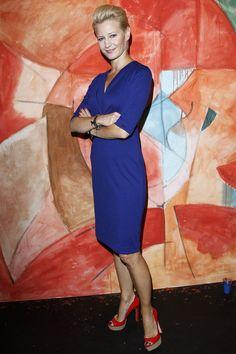 Małgorzata Kożuchowska w kobaltowej sukience #Aryton, zdjęcie AKPA