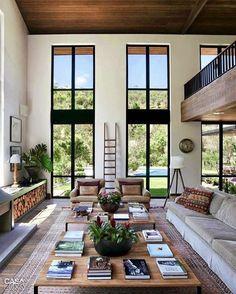 41 Contemporary Living Room Interior Designs - Modern Home Design Sweet Home, Home Fashion, Mens Fashion, Great Rooms, My Dream Home, Dream Home Design, Home And Living, Usa Living, Small Living