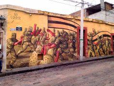 Street Art By JAZ in Queretaro Mexico For Board Dripper StreetArt / Graffiti Festival. Street Art Love, Street Art News, Best Street Art, Street Artists, Graffiti Art, Art Intervention, Mexico Art, Art Festival, Banksy