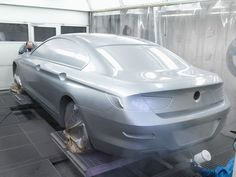 BMW 6 Series Coupe - Foiled clay model painting