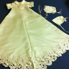 Baby christening gown made from wedding gown