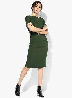 4896b959d25 Buy DOROTHY PERKINS Green Bodycon Dress Online - 3255492 - Jabong