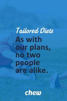 Why do fad #diets fail? They assume that everybody loses weight in the same way. Of course, that couldn't be further from the truth. That's why we consult directly with our clients to learn about what makes them tick and THEN we design a nutrition-dense, tailored eating and #exercise plan that will get real results. No more cookie-cutter diets. #JoinTheChew