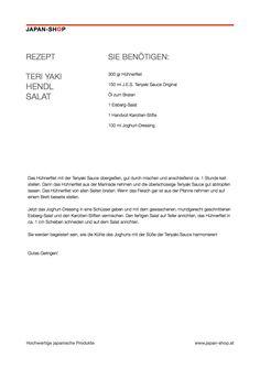 Rezept Teriyaki Hendl Salat