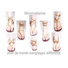 Sandales artisanales en cuir originales confortables