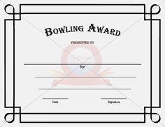 Sports certificate bowling award certificate certificatestreet bowling award template yadclub Images