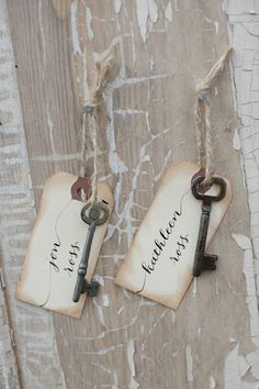 "I bought some skeleton keys and some twine rope and will be installing the crystal glass door knobs without the shaft attached and placing them in various out of order on the wall, with tags attached: Tag Example: ""Confidence"", ""Compassion"", ""Sympathy"", ""Hope"", ""Love"", ""Faith"", ""Creativity"", ""Kindness"", ""Goofy"", ""Fun"", ""Forgiveness"", ""True to Yourself"" It's gonna be cute!"
