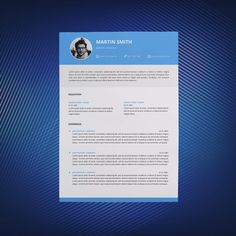 The Modern Resume Modern Resume Template & Cover Letter  Icon Set For Microsoft Word .
