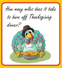 Runderdog: Runleashed and Runstoppable: How many miles does it take to burn off Thanksgiving dinner?
