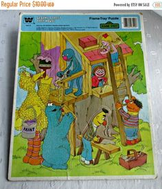 Sesame Street Tree House Frame Tray Puzzle by EauPleineVintage