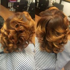 This color is awesome! Love Hair, Gorgeous Hair, Curly Hair Styles, Natural Hair Styles, Dyed Natural Hair, Colored Natural Hair, Hair Laid, Relaxed Hair, Fall Hair