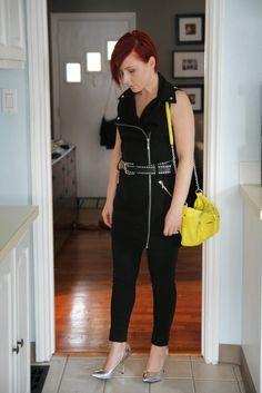 Thrift and Shout: Cute Outfit of the Day: Moto Vest Dress