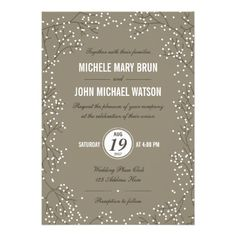 Beautiful Rustic Modern Baby's Breath Wedding Invitation design, fully customizable and set as a template for your easy customization. This is a version with rounded corners. Matching RSVP Card is listed below. Modern Wedding Invitations, Wedding Invitation Design, Custom Invitations, Invitation Wording, Invitation Ideas, Wedding Stationary, Simple Weddings, Rustic Weddings, Wedding Simple