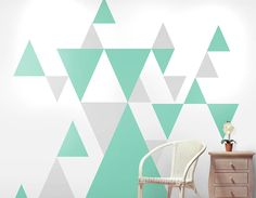 Transform your room in your own unique way with these great geometric pattern wall stickers.