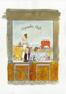 ILLUSTRATIONS, Kanako - Cupcake café - Galerie Glénat