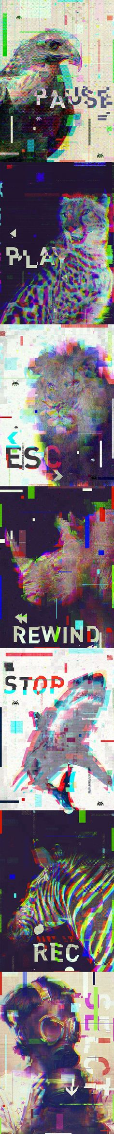 Glitch_Corruption_Animals_ By Mr. Kuns
