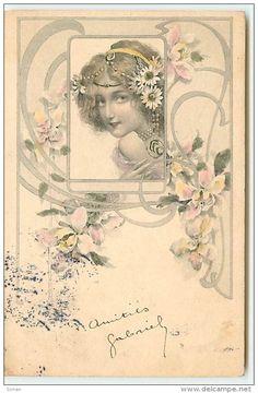 Illustrators & photographers - n°6221 - Art Nouveau - Femme - Serie 107