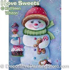 I Love Sweets Snowmen Pattern - Kathleen Whiton - PDF DOWNLOAD