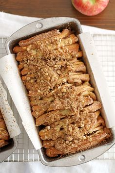 Apple Cinnamon Streusel Pull-Apart Bread   girlversusdough.com @stephmwise