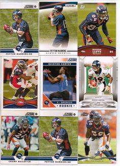 9 Card Bronco Nfl Football Card Lot