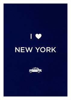NEW YORK print art poster Love illustration by WeaversofSouthsea