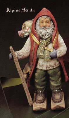 Old World Santa, Alpine Santa, Switzerland, Swiss,Collectable Santa  Kimple Santa, Vintage, ceramic bisque, ready to paint, u-paint,app 9""