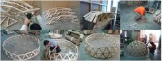 Proceso Constructivo - Domo Geodésico Wood Joinery, Dome House, Geodesic Dome, Woodworking Joints, Glamping, Diy Home Decor, Table Decorations, Mirror, Furniture