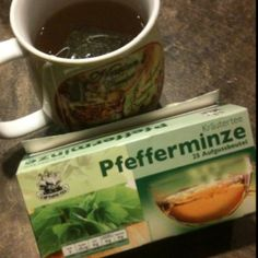German peppermint tea...good stuff