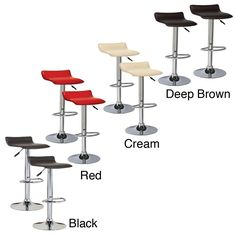 Adjustable Swivel Stool (Set of 2)   Overstock.com item # 13885630  Something like this but w/ less modern look. Has low profile, adjustable height & swivels.