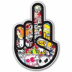 MIDDLE FINGER 2 SB1 Sticker Bomb Decal Car Macbook Laptop Funny Ken Block JDM #UnbrandedGeneric