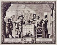 Abraham Bosse (French, 1602–1676). Taste plate 5 from Cinq sens (The Five Senses) c 1635.