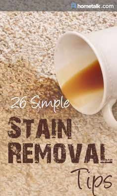 26 Simple Stain Removal Tips!
