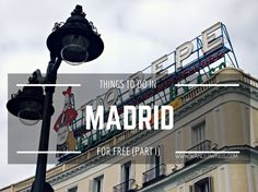 Museums in Madrid and when to visit them for Free || Wanderwings