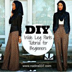 DIY | Nadira037 | Super easy wide leg pants tutorial for beginners: