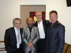 Big Men In Town at the NJ Hall of Fame: Honoree Frankie Valli, Joe Pesci, Bob Gaudio, and Bruce Springsteen.