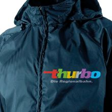 plastisol transfer on a soft-shell jacket http://www.plastisoltransfer24.co.uk/ #plastisol #transfer #nylon