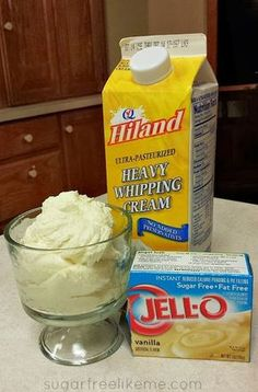 Low Carb Sugar Free Dessert-2 ingredients, can make as pudding or freeze as ice cream. Worth a try to curb the sweet tooth.