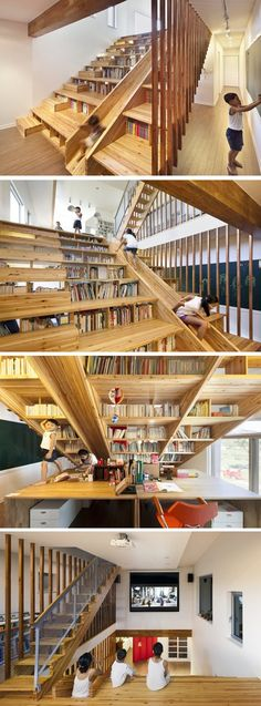 Spectacular stair dominates house, serves many functions   Home Decorating Ideas