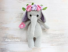 Cuddle Me Elephant Crochet Pattern