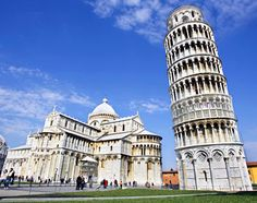 Tuscany, Italy, Europe: The Leaning Tower of Pisa, and Cathedral Santa Maria Assunta