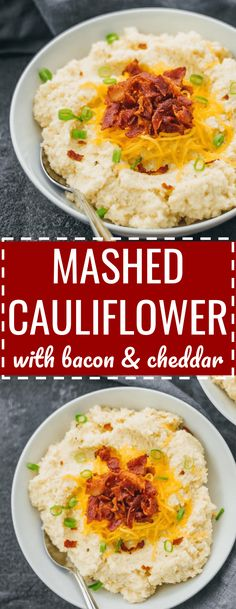 Step aside mashed potatoes -- this cheesy mashed cauliflower is creamy and fluffy, and topped with cheddar cheese and crispy bacon. loaded / keto / low carb / diet / atkins / induction / meals / recipes / easy / dinner / lunch / foods / healthy / recipe / garlic / paleo / whole 30 / with cream cheese / weight watchers / 21 day fix / how to make / best / creamy / rice / dinner / blender / simple / cheddar / leftovers / calories / quick #thanksgiving #healthy via @savory_tooth
