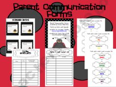 Parent Communication Form - freebie