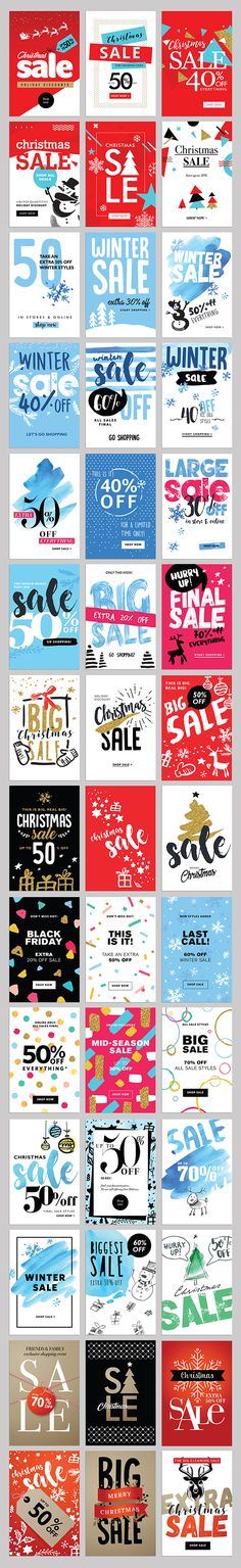 Set of Winter Mobile Sale Banners on Behance