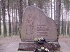 Latvia, a memorial monument for 2000 victims murdered at this place